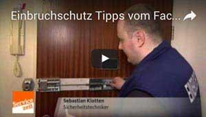 Schlüsseldienst Dortmund im WDR Fersehen bei der Servicezeit - Beitrag über Einbruchschutz